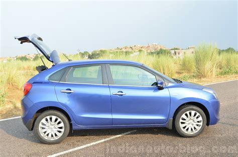 Suzuki Baleno Diesel Maruti Baleno Diesel Side With Boot Open Review Indian