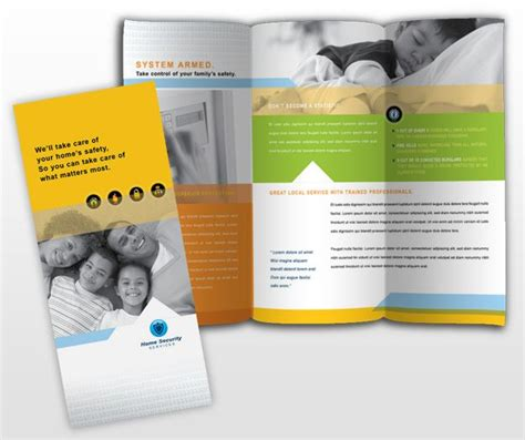 single fold brochure template residential surveillance systems brochure template