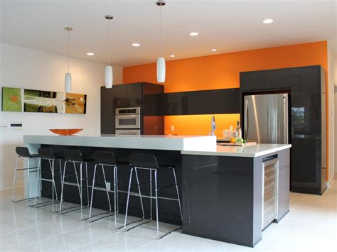Colour Designs For Kitchens by Orange Paint Colors For Kitchens Pictures Amp Ideas From