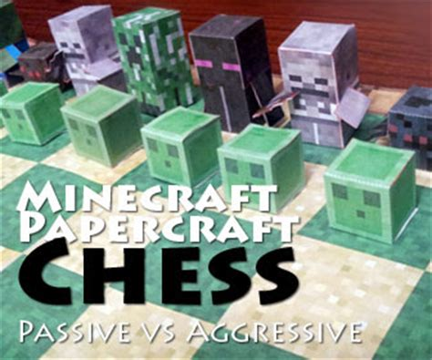 Minecraft Papercraft Chess - papercraft
