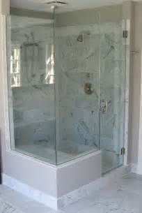Master Baths With Walk In Showers carrera marble shower facelift home sweet old new