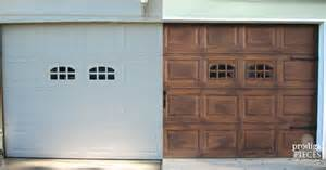 Wood Stained Garage Doors Diy Faux Stained Wood Garage Door Tutorial Hometalk