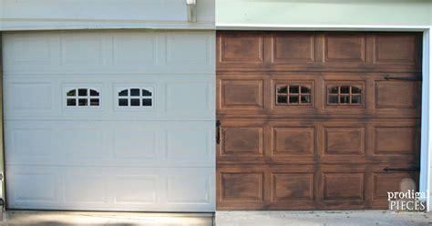 Diy Wood Garage Door by Diy Faux Stained Wood Garage Door Tutorial Hometalk