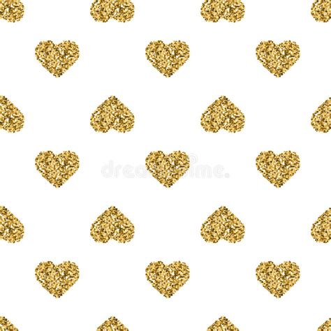 gold heart pattern wallpaper seamless pattern with gold glitter hearts on white