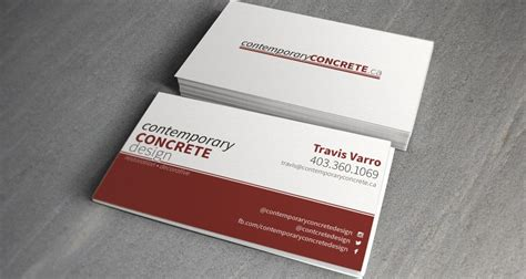 concrete business cards contemporary concrete design business cards grizzly media