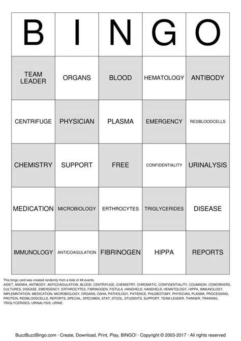 printable lab week games lab week 2013 bingo cards to download print and customize