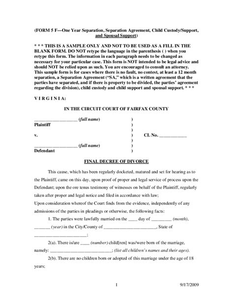 Free Divorce Records Virginia Sle Of A Divorce Decree Dallas County Divorce Decree Sle Form Fill