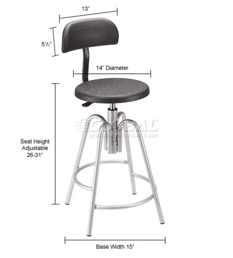Garage Stool With Backrest by Purchase Height Adjustable Ergonomic Stool Polyurethane Stool With Backrest Puncture Proof