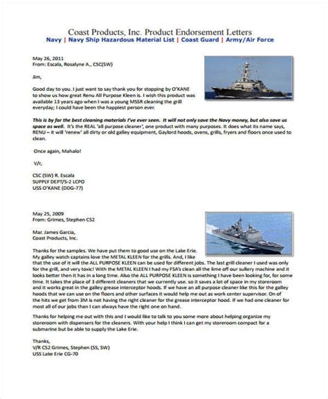 Endorsement Letter Of A Product 16 endorsement letters sles templates pdf doc