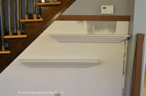 Hang Floating Shelf by How To Hang Shelves Using Painters Tutorial Four