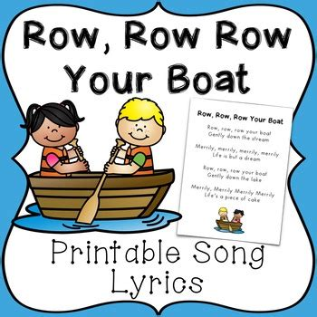 row row row your boat with lyrics and action row row row your boat song lyrics page for reading