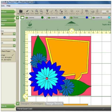 cricut craft room software a floral easel card using the cricut mini 171 gentleman crafter