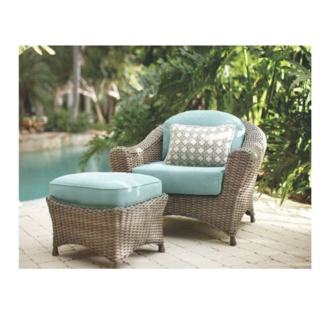 Martha Stewart Living Patio Furniture Cushions Martha Stewart Living Lake Adela Weathered Gray 2 Patio Lounge Chair And Ottoman Set With