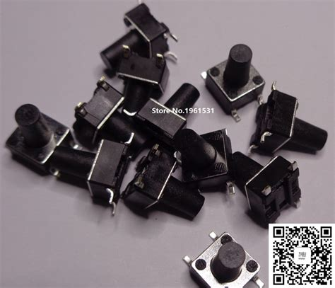 Tactile Button 13mm Push On 6 6mm 6x6x5mm 13mm smd tactile tact mini push button switch micro switch momentary smd 4 6x6x5 6
