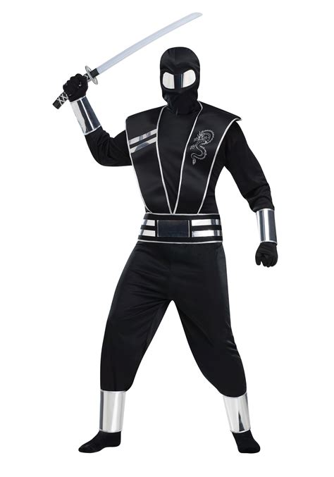 black mirror halloween costume adult silver mirror ninja costume