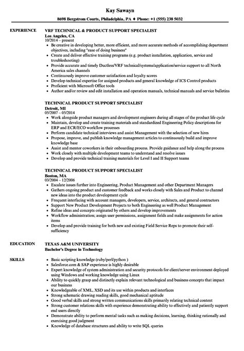 Resume Technical Support Specialist by Technical Support Specialist Resume Sle Tomyumtumweb