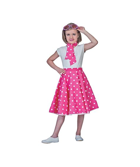 50 theme costumes hairdos pink sock hop kids costume girls polka dots costumes