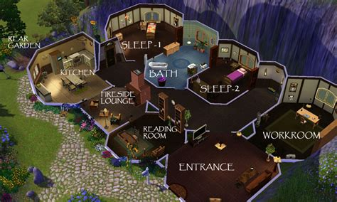 hobbit hole floor plan mod the sims lotr bilbo baggin s hobbit home bag end