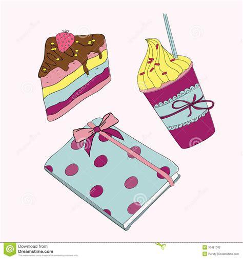 Girlset Pink pink set sweet cupcake coffee and notebook royalty