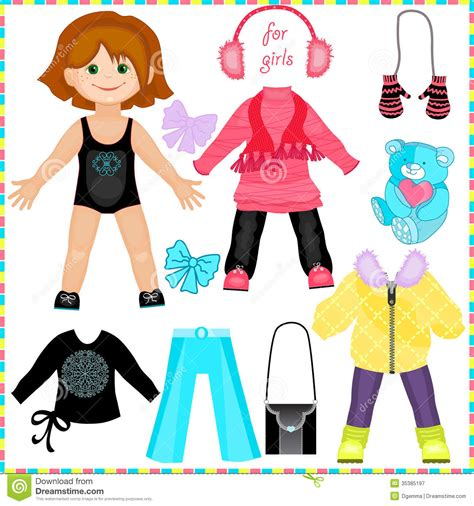 How To Make Paper Doll Clothes - best photos of paper doll clothes for paper dolls