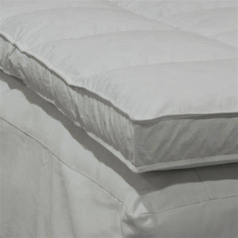 Mattress Size 72 X 84 by Etc 235tc Feather Bed White