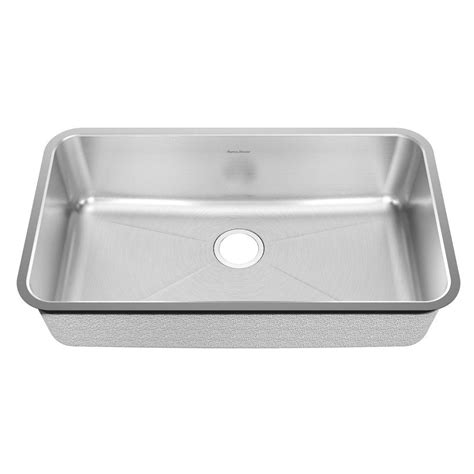 American Standard Kitchen Sinks American Standard Prevoir Undermount Brushed Stainless Steel 33 In Single Bowl Kitchen Sink