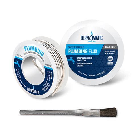 Solder For Plumbing by Solder Brazing Rods Flux Plumbing Tools
