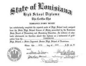 state of louisiana high diploma terrance i mcgee