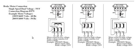 3 phase motor wiring diagram brake motor wiring