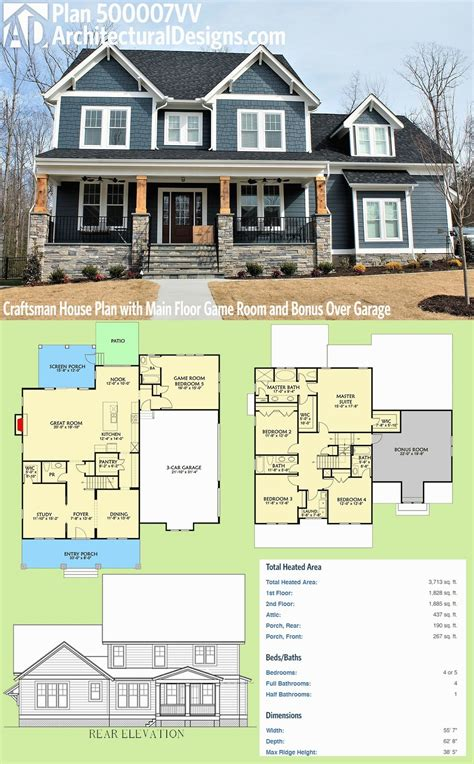 angled house plans architectural designs craftsman
