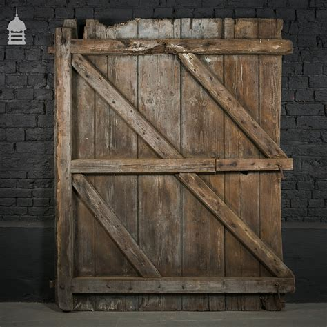 Rustic Barn Door Hinges Rustic Pine Barn Door With Original Hinges