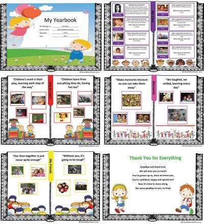 My Yearbook End Of Year Template Aussie Childcare Network Yearbook Templates Publisher