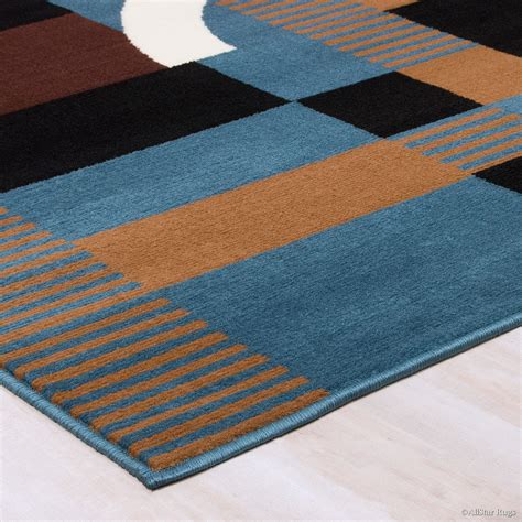 blue and brown rugs allstar rugs woven blue brown area rug reviews wayfair