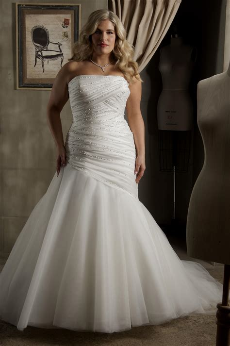 mermaid wedding dresses plus size plus size mermaid wedding dresses naf dresses