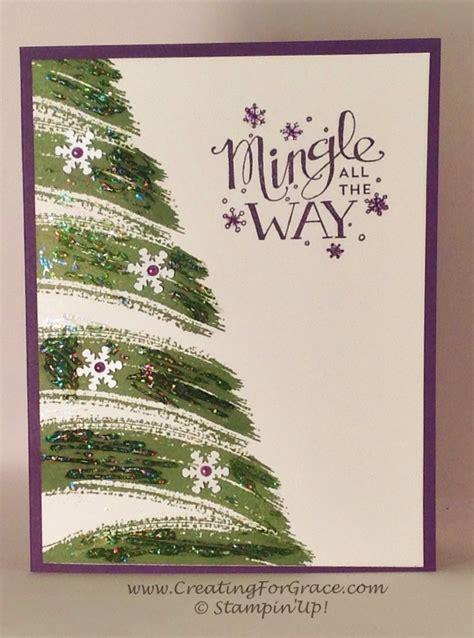 stin up work of art christmas tree card sting cat