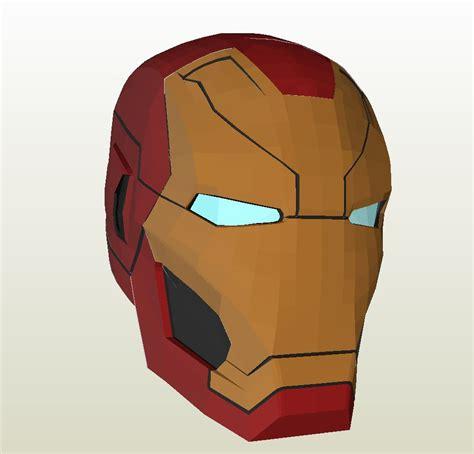 Ironman Helmet Papercraft - iron 46 helmet pepakura eu