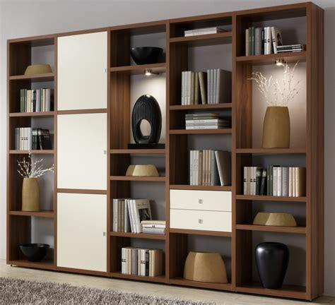 muebles con estantes bibliotecas grandes para salas de estar modernas