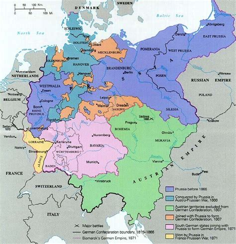 map showing germany map showing the territorial evolution of germany from 1866
