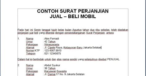 doc contoh surat perjanjian hutang piutang motorcycle review and