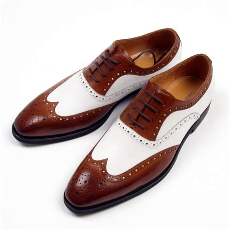 Handmade Leather Brogues - handemade mens brogues oxford shoes genuine leather