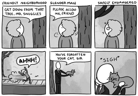 Slender Man Meme - friendly neighborhood slender man slender man know