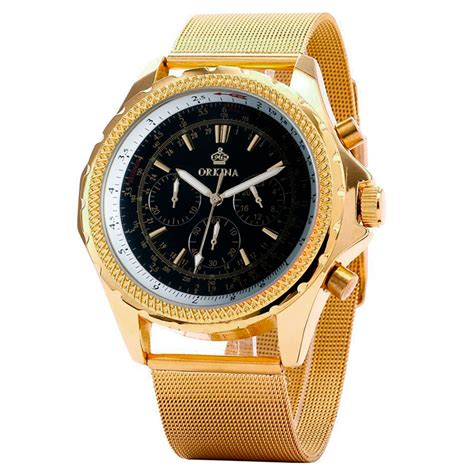 luxury top brand mg orkina gold watches