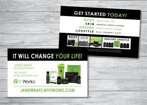 It Works Business Card Template by It Works Business Cards By Kellibdesignstudio On Etsy