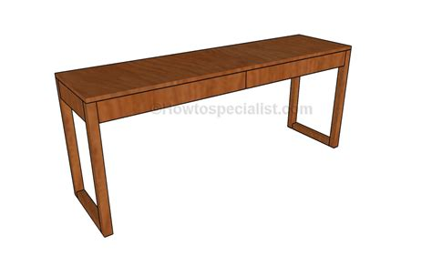 Build A Desk by How To Build A Desk With Drawers Howtospecialist How