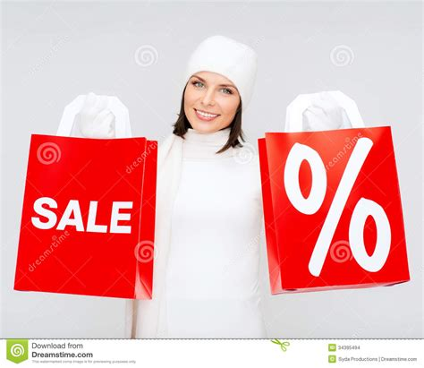 picture of happy with shopping bags stock images