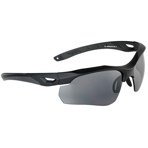 Swiss Eye Skyray Sunglasses Smoke Clear Lens Black