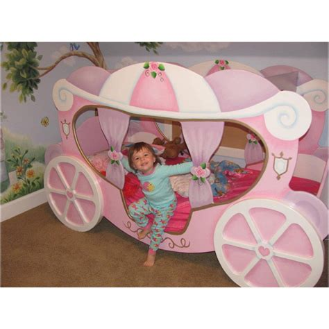 Carriage Beds For Sale by Cozy Pink Polished Cinderella Princess Bed With Wheel As