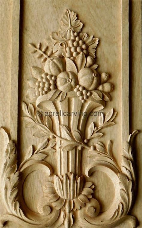 20 wood carving ideas for a rustic home decor french panel versailles door fruit grapes laurel appliques