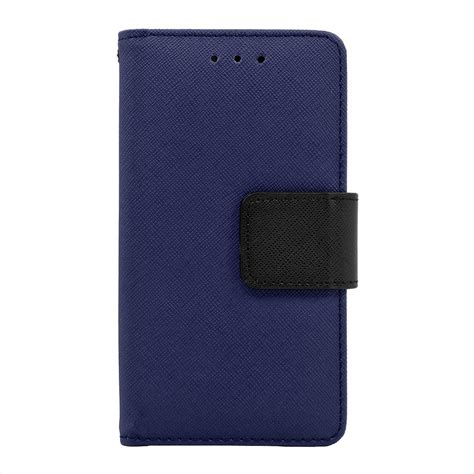 saapni samsung galaxy j5 leather wallet pouch cover blue wcfc09 samj5bl