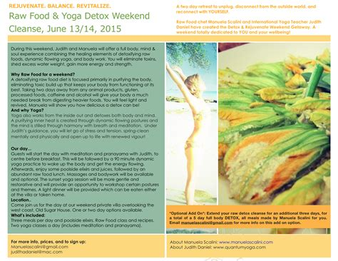 Detox Weekend Retreat Ireland by Food Detox Weekend Cleanse Barbados Manuela